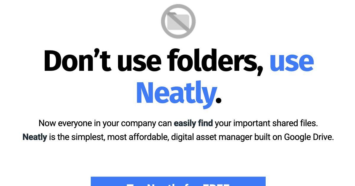 Neatly : le gestionnaire de ressources numériques basé sur Google Drive