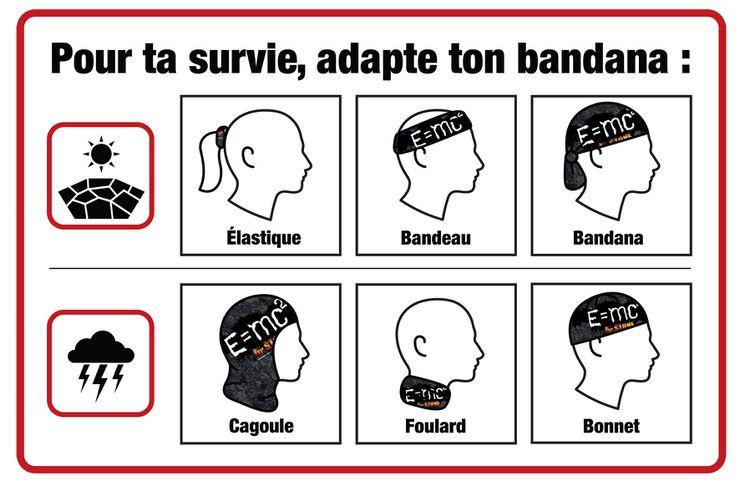 Illustration de l'utilisation du bandana de survie Dr Stone offert par Glénat