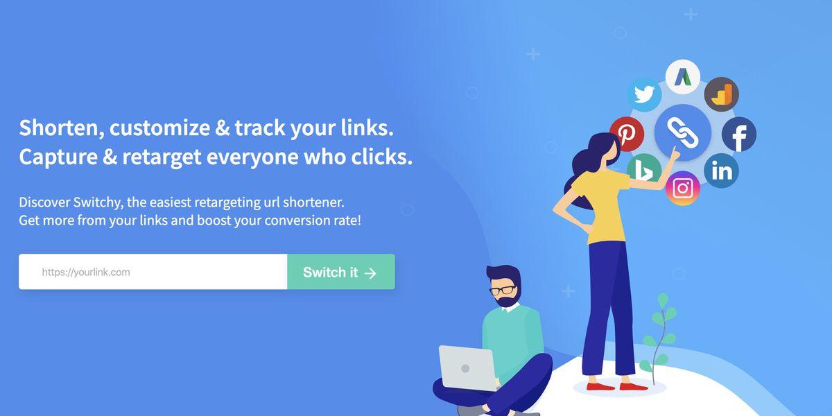 Switchy, le raccourcisseur d'URL qui permet de recibler les personnes qui cliquent sur vos liens