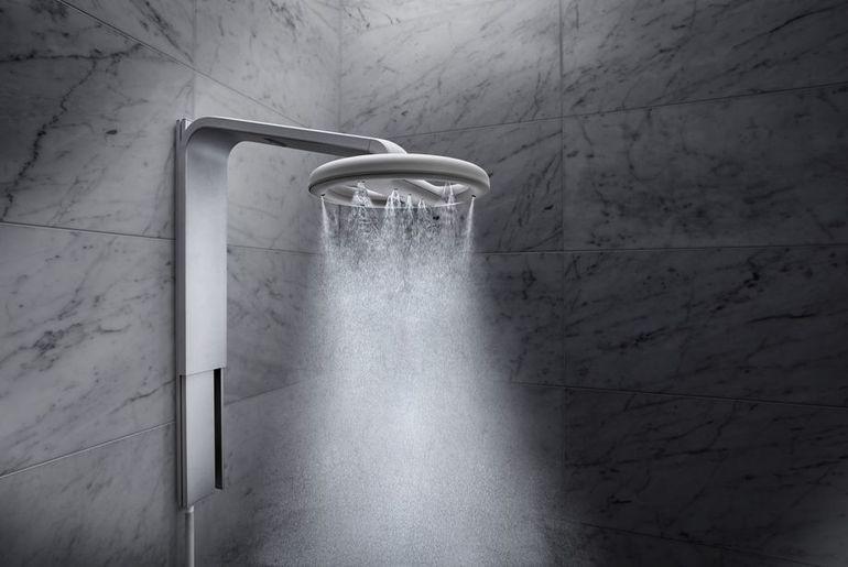 Une douche inédite, qui associe technologie, confort et respect de l'environnement.