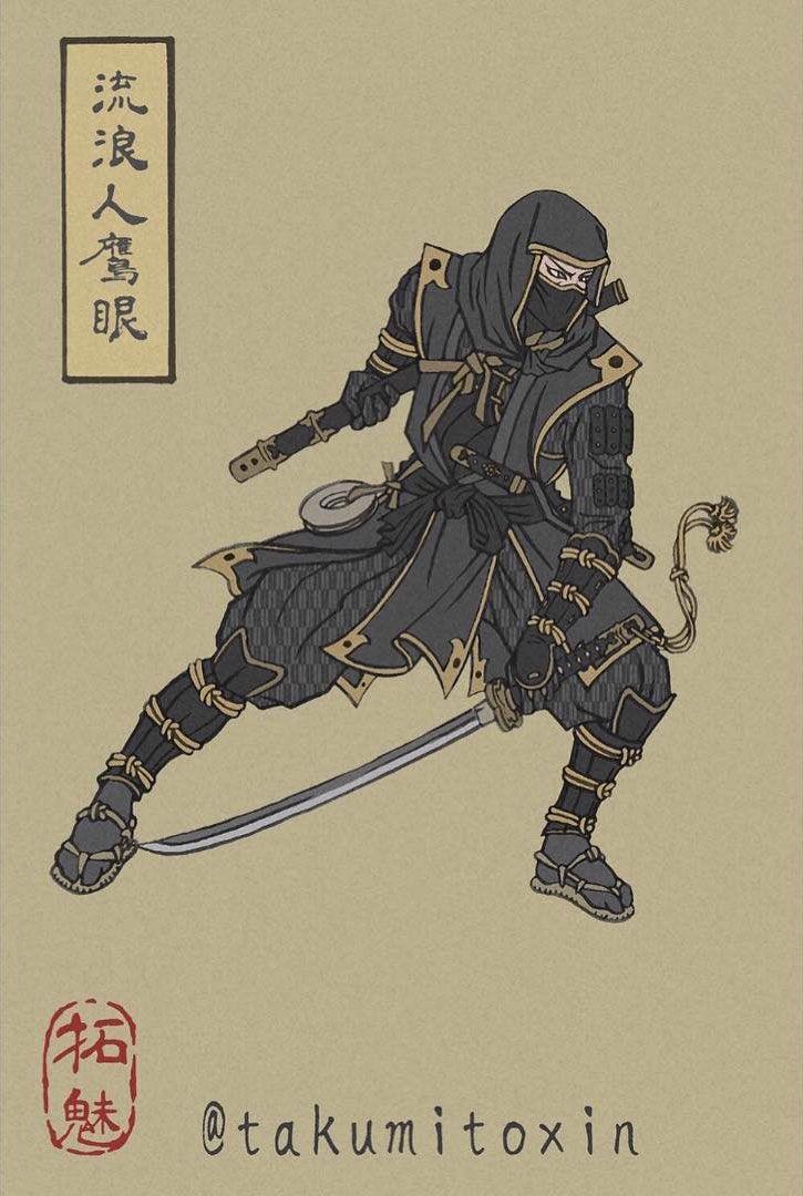oeil de faucon ronin artworks ukyo-e