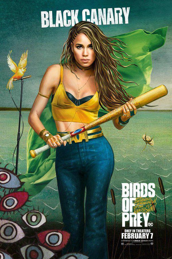 birds of prey black canary