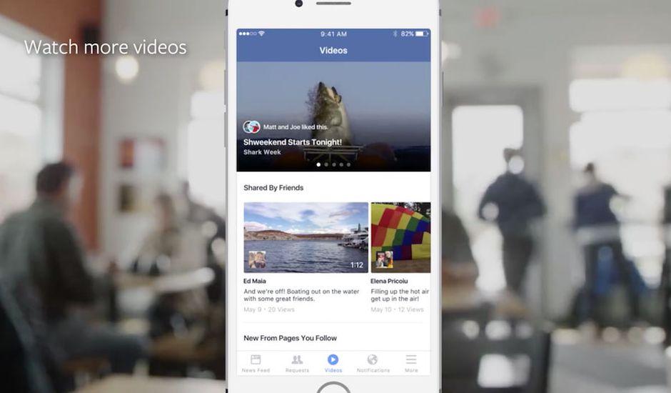 Facebook Interface Vidéo