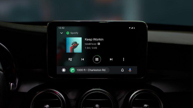 Affichage de Spotify sur Android Auto