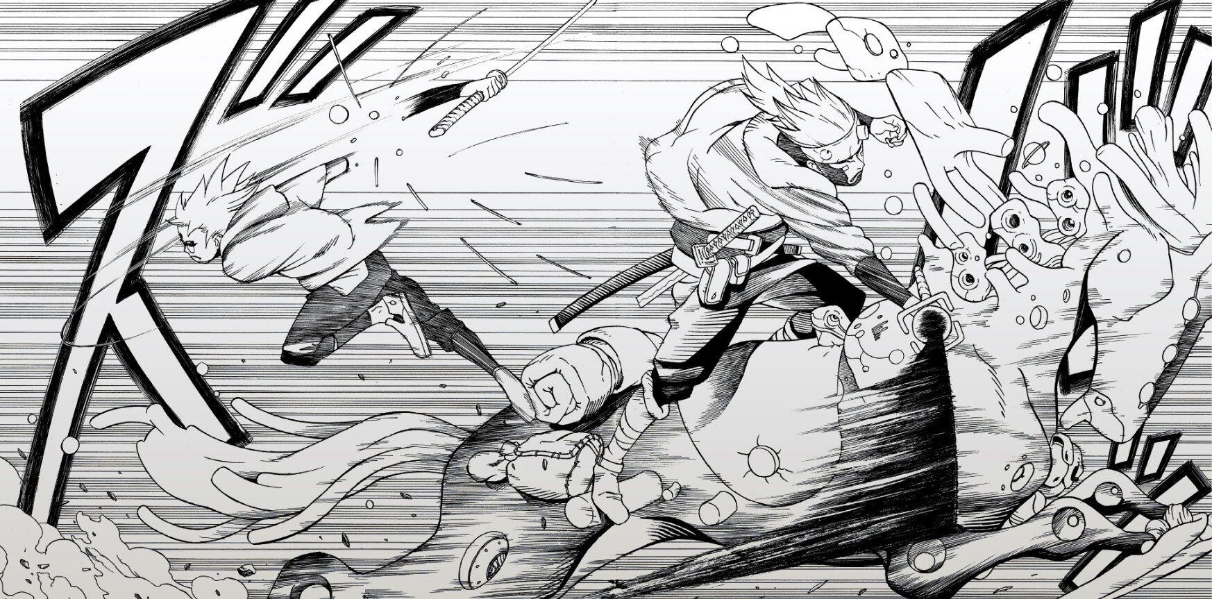 extrait du manga samurai 8 en ligne