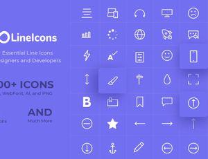 Exemple d'icônes disponibles sous LiceIcons