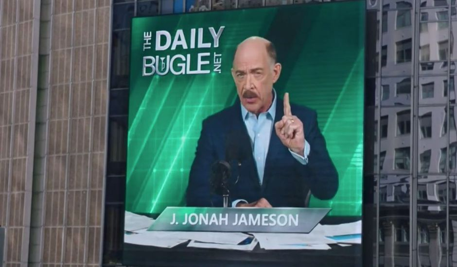 J. Jonah Jameson dans la scène post-générique de Spider-Man : Far From Home