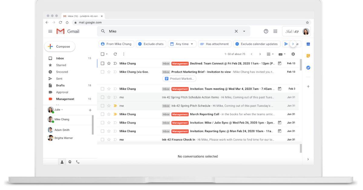 Gmail : de nouveaux filtres vont faciliter la recherche de vos e-mails