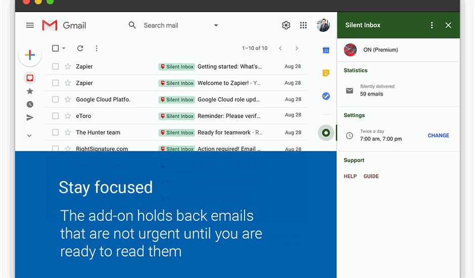 Silent Inbox présentation