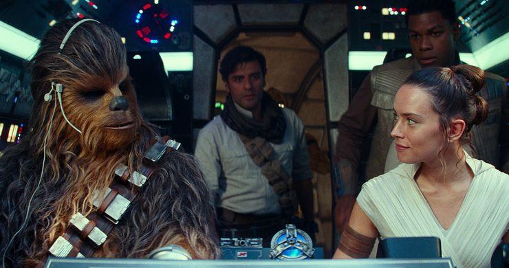 star wars ascension de skywalker cockpit rey chewbacca