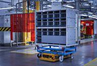 Photographie du robot logistique autonome de BMW.