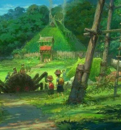 Concept art du Studio Ghibli pour son parc d'attractions