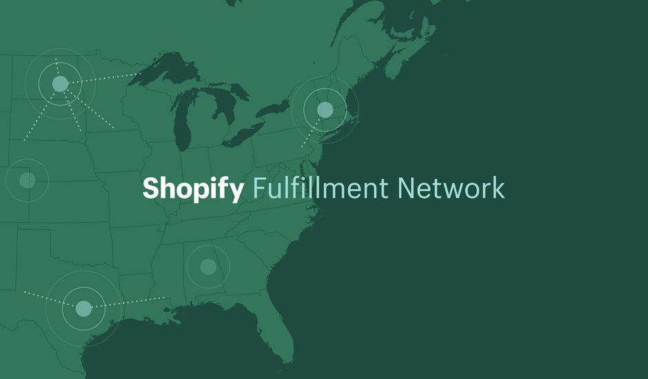Illustration du Shopify Fulfillment Network.