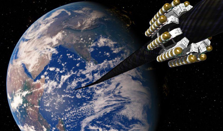 Une fibre inventée par des chercheurs pourrait permettre de créer un ascenseur vers l'espace.