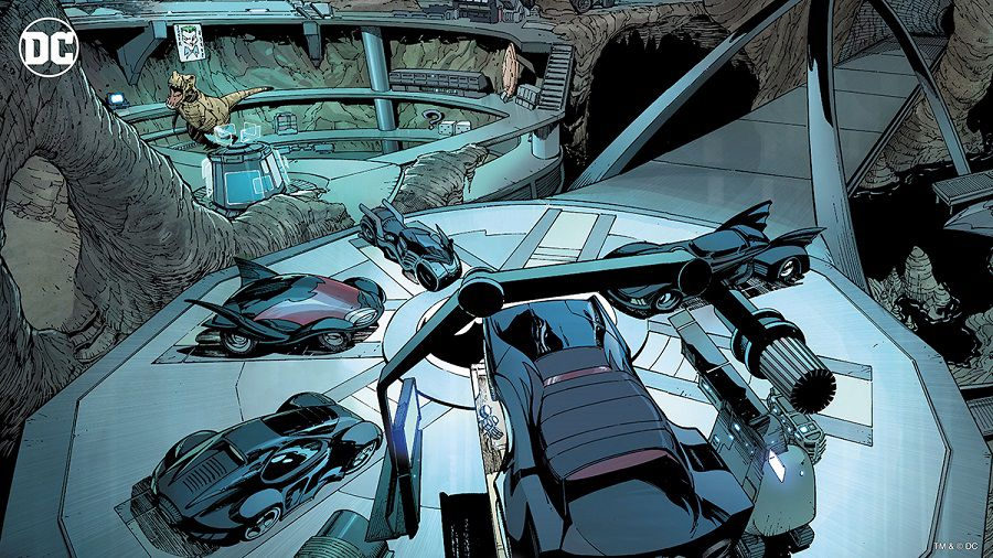 dc comics batcave fonds virtuels zoom
