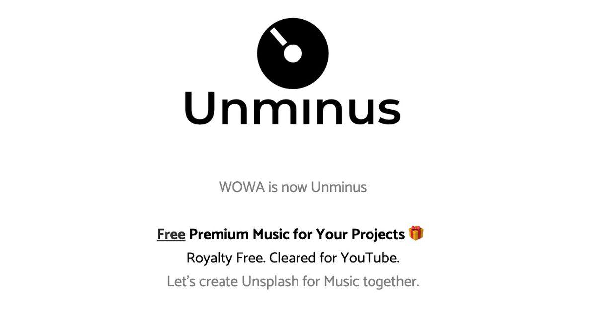 Unminus : une bibliothèque avec des musiques libres de droits !