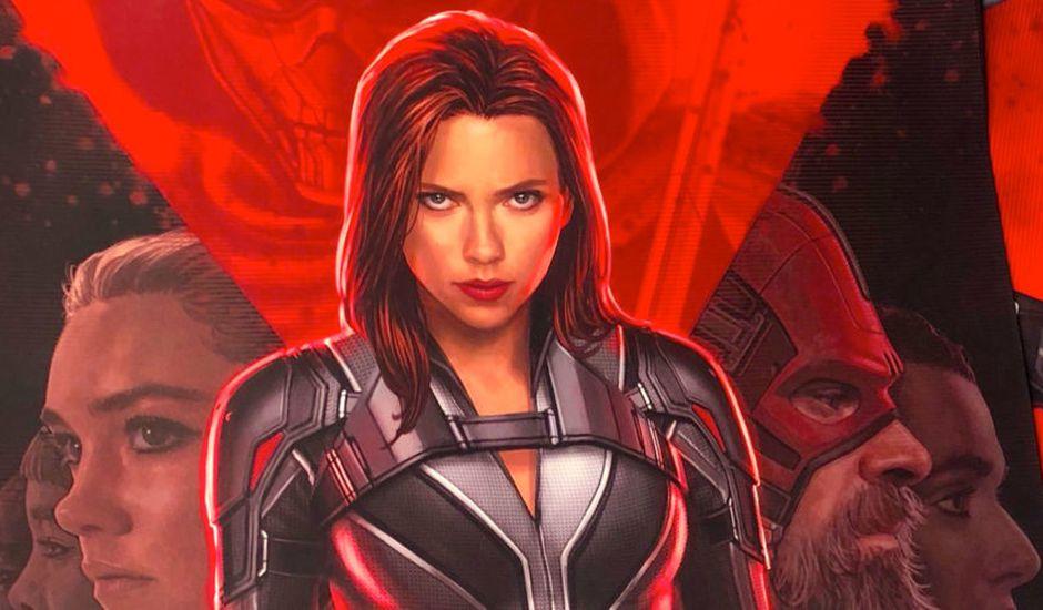 La première affiche du film Black Widow
