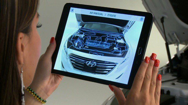 Hyundai virtual guide realite augmentee
