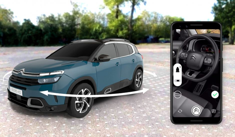photo de la citroen C5 Aircross dans l'application Messenger