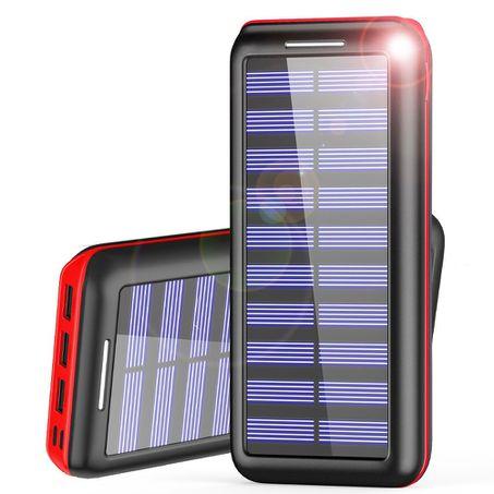 batterie externe pouvant être rechargée à l'énergie solaire, AKEEM