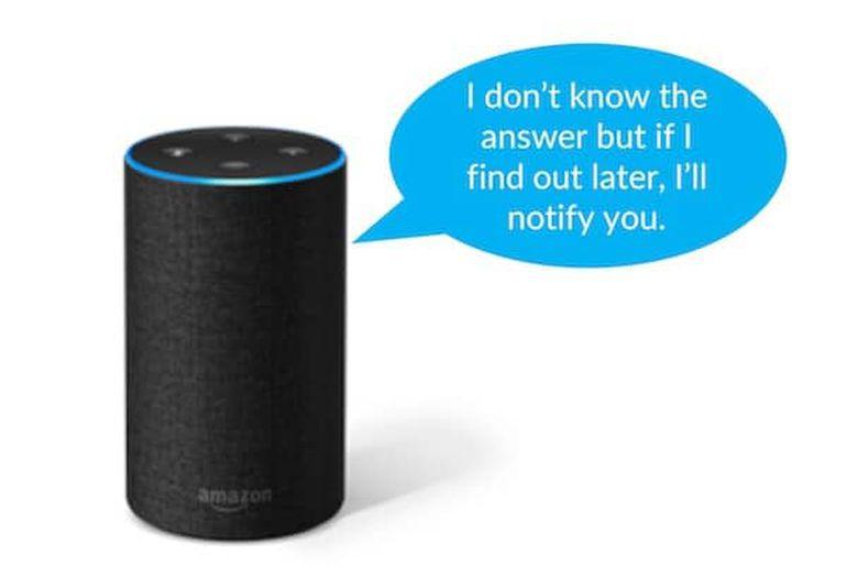 """Avec """"Amazon Updates"""" Alexa vous informera lorsqu'elle aura la réponse à une ancienne question"""