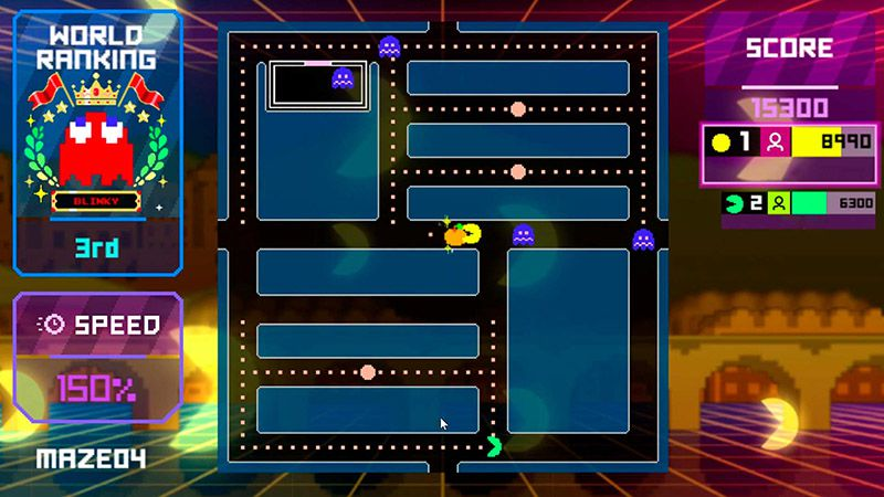 """Capture d'écran du mode """"Sans Limite"""" de Pac-Man Live Studio."""