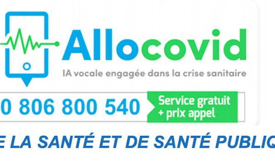 AlloCovid - logo et numéro de téléphone