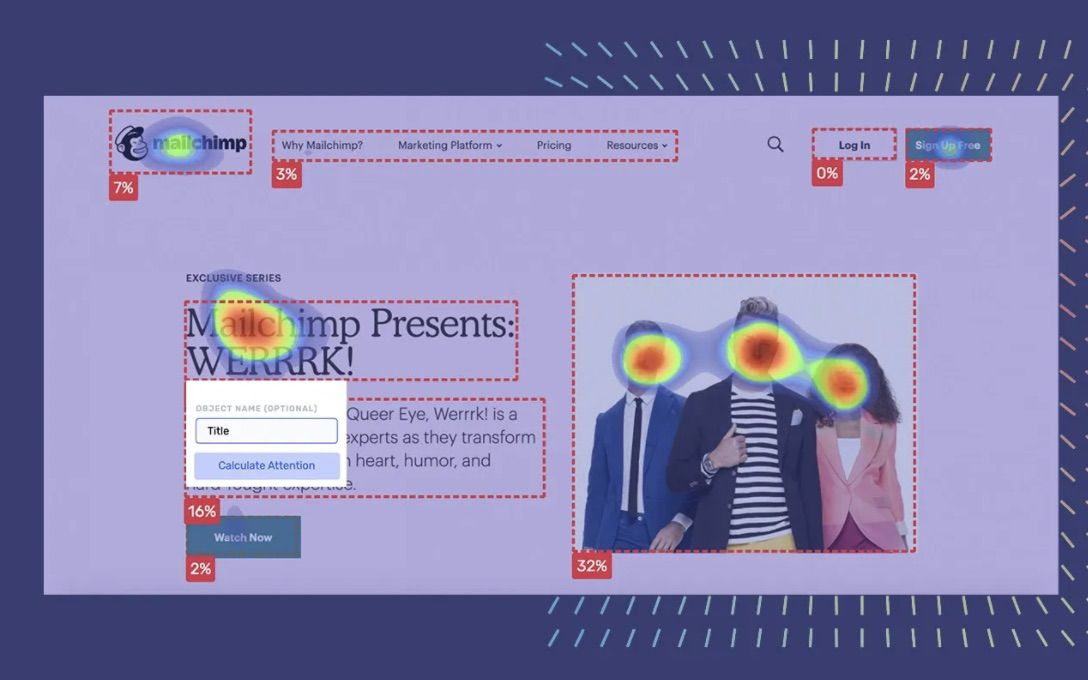 heatmap dans Attention Insight