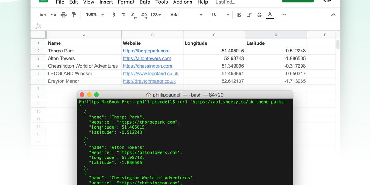 Sheety : transformez gratuitement vos feuilles de calcul en API