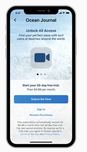 Apple demande aux développeurs d'être plus précis sur les conditions d'abonnement aux applications.