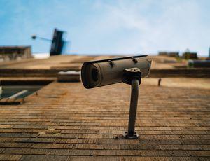 À Londres, une caméra de surveillance installée sur un mur d'immeuble