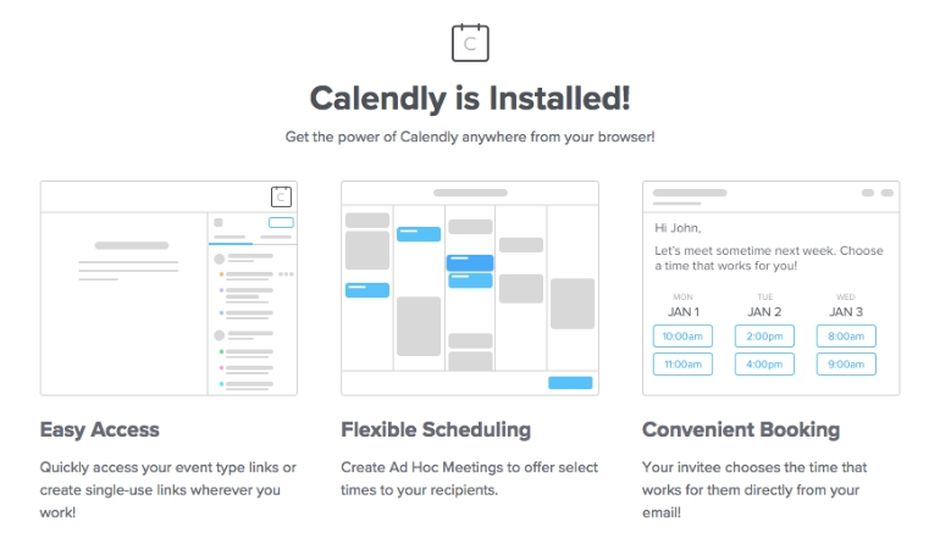 Calendly extension Chrome réunion rendez-vous