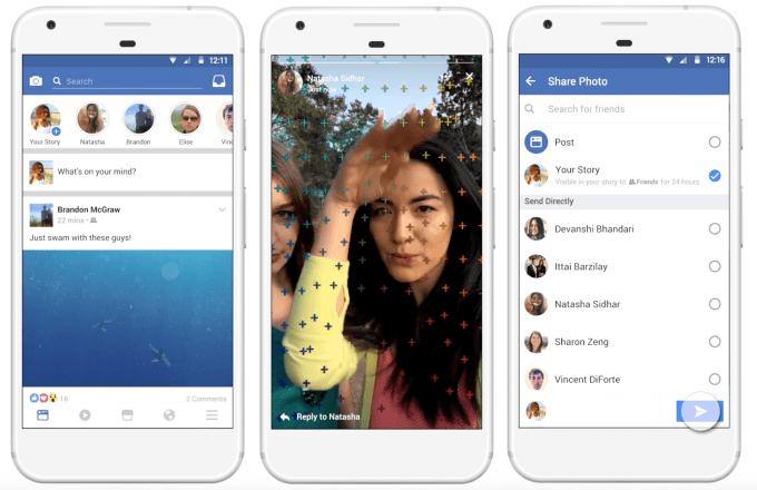 Facebook Stories fonctionnement