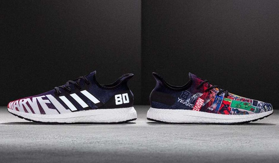 paire de baskets marvel entertainment avec adidas