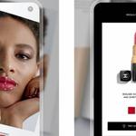 Aperçu de l'application de Chanel pour identifier des nuances de rouges à lèvres.