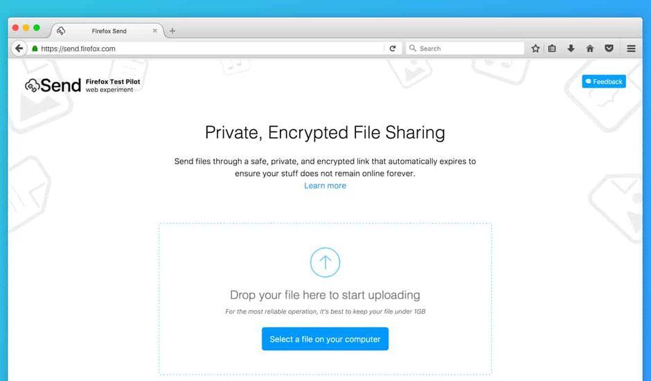 Send Mozilla partage fichiers
