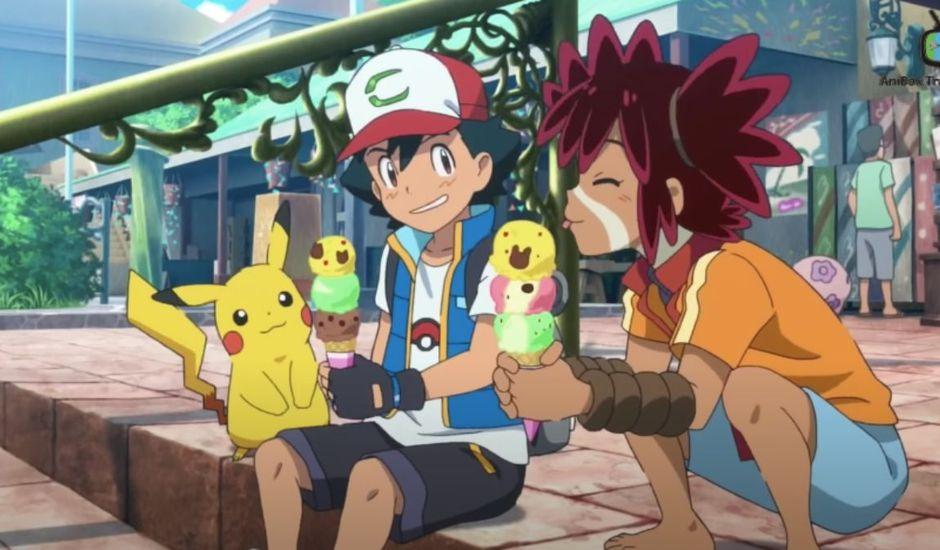 Pikachu, Sacha et Coco dans Pokémon : Coco