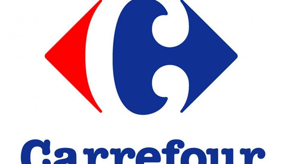 Le logo de Carrefour.