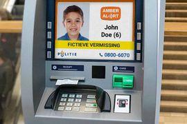 Les alertes AMBER diffusées sur les distributeurs de billets