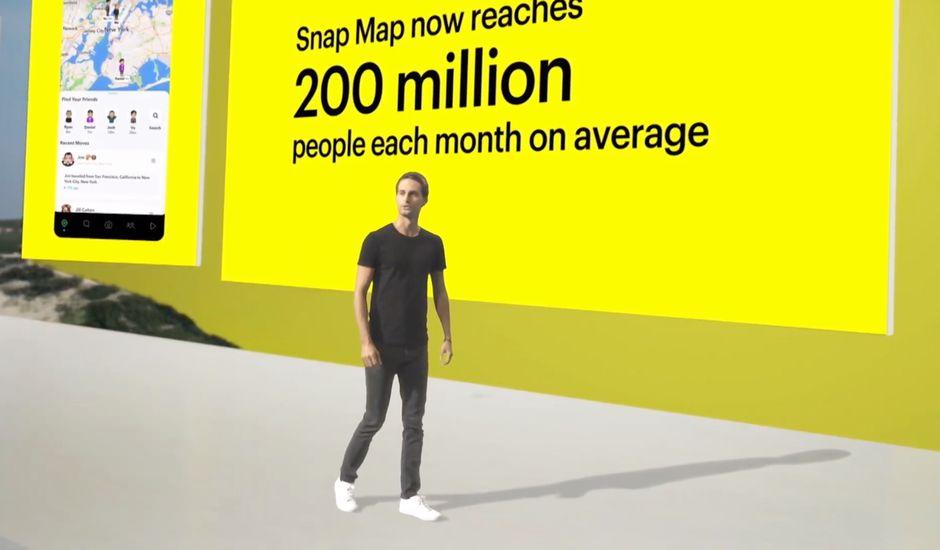 Evan Spiegel lors de la Snap Partner Summit 2020