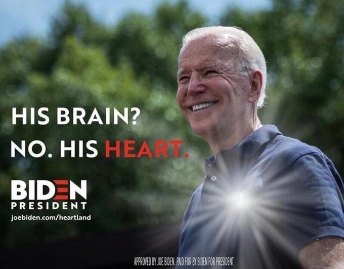 Une fausse publicité de Biden.