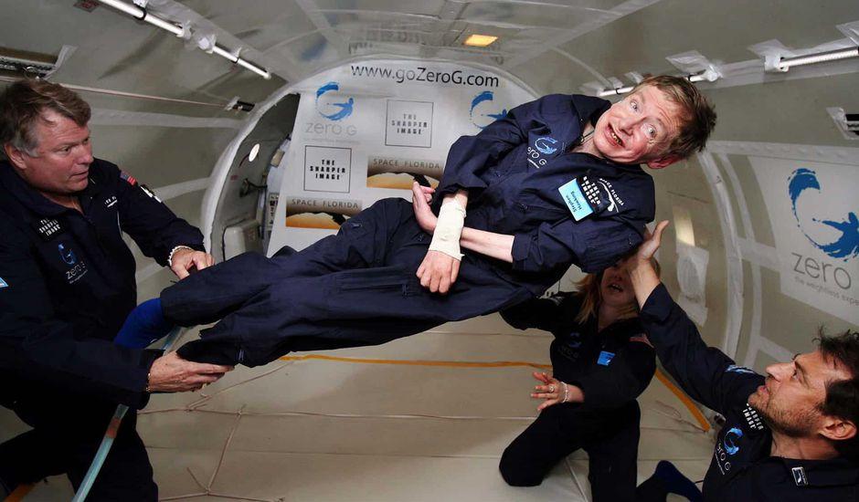 Stephen Hawking dans l'espace