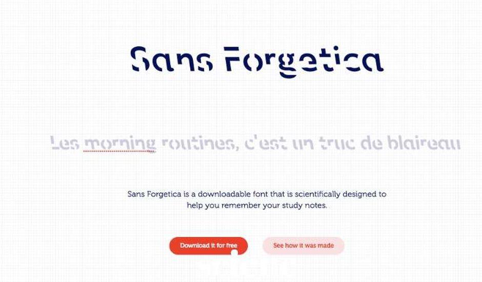 la police d'écriture Sans Forgetica aide à mémoriser ce qu'on lit