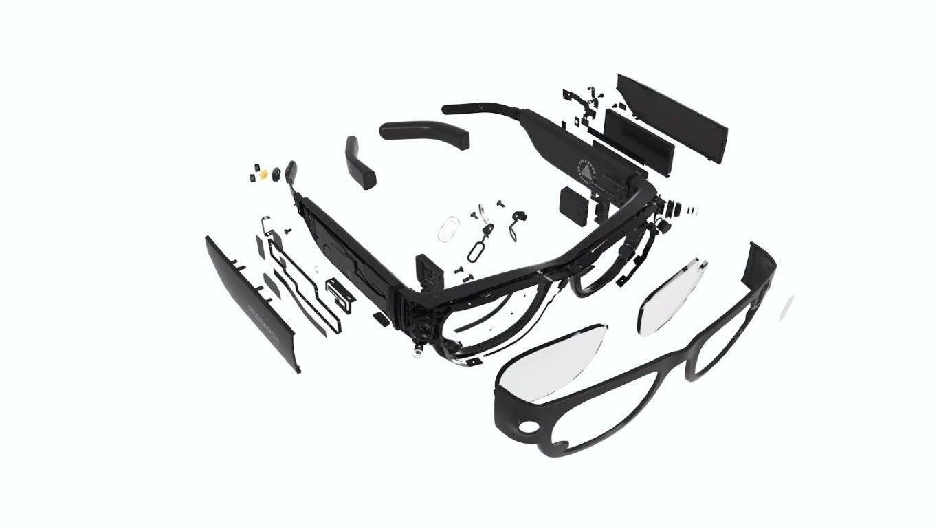 Des lunettes de réalité augmentée en pièces détachées.