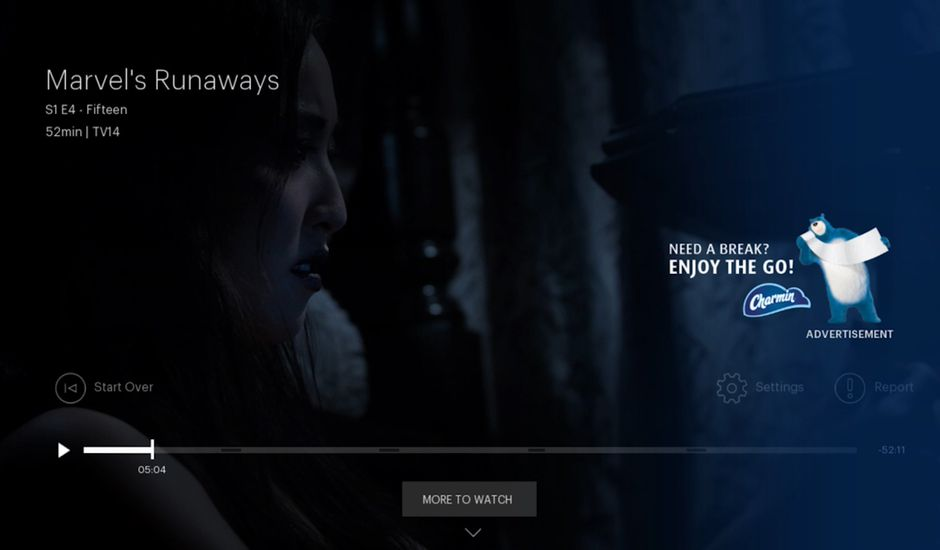 photo hulu exemple Pause Ads
