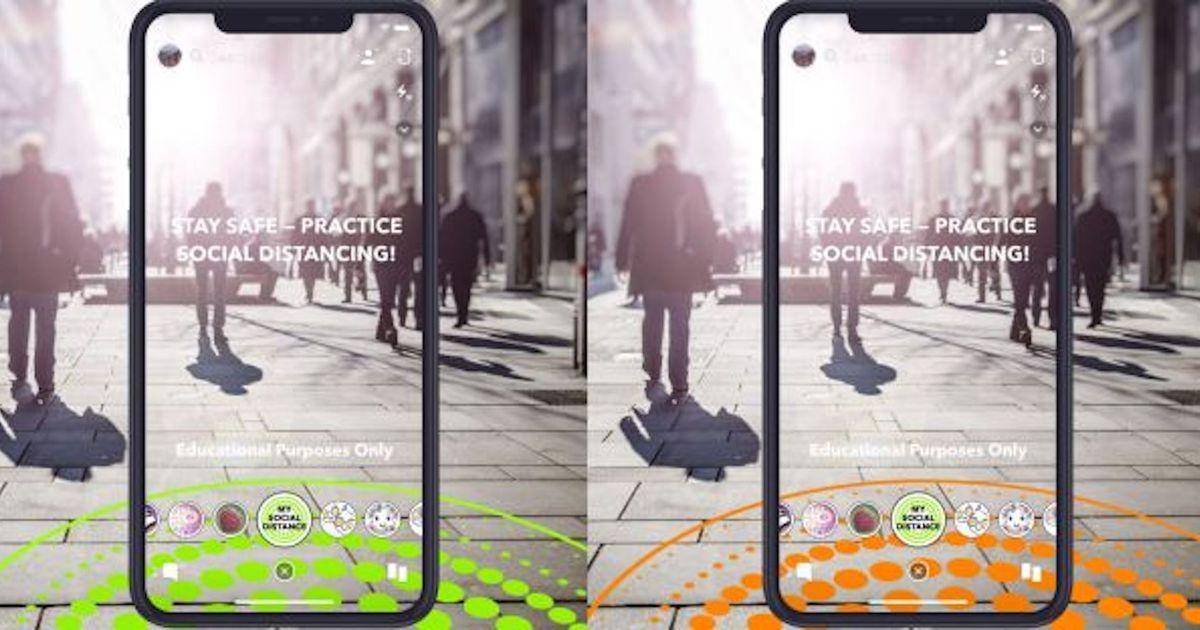 Les nouveaux filtres de Snapchat encouragent la distanciation sociale