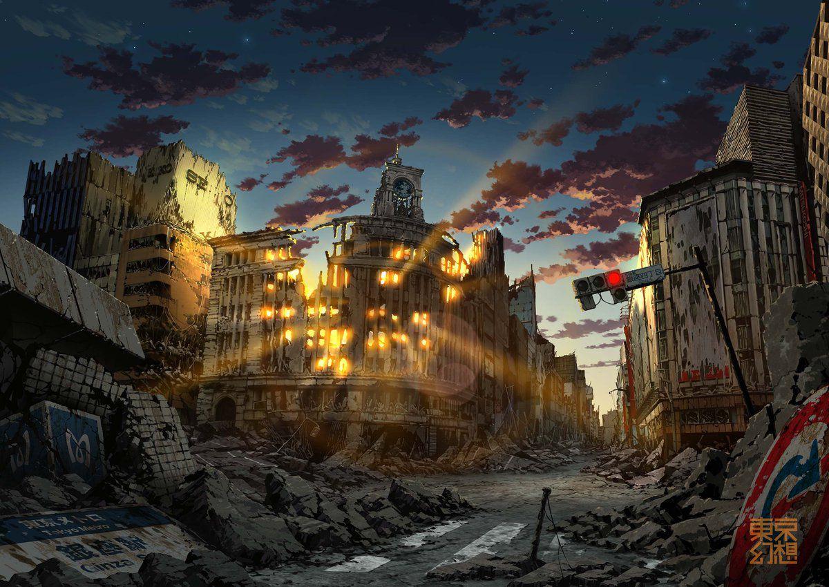 artworks tokyo post-apocalyptique ginza