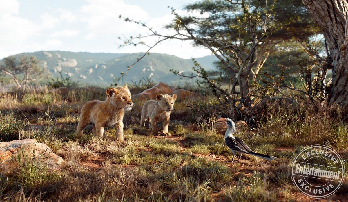 le roi lion film 2019 disney simba nala et zazu