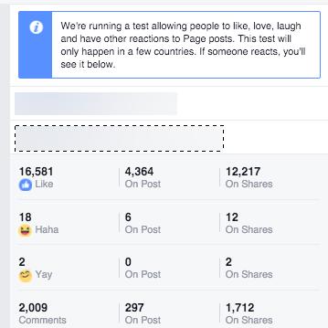 réaction emoji statistiques facebook impact