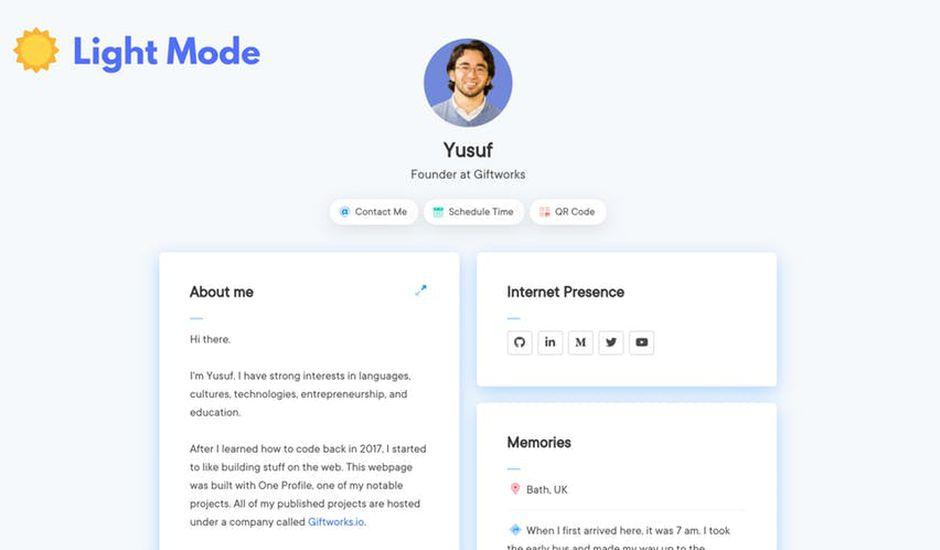 One Profile